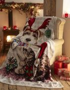 Portfolio Ivy & Snowy Christmas Fleece Throw