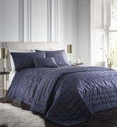 Portfolio Lucien Navy Quilted Throw