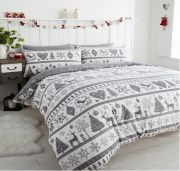 Portfolio Noel Grey Duvet Cover Set - Single