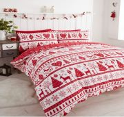 Portfolio Noel Red Duvet Cover Set - Single