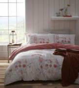 Portfolio Pasture Coral Duvet Cover Set - Superking