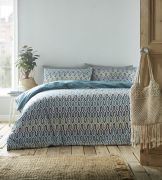 Portfolio Riley Duvet Cover Set Aqua - Double