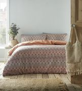 Portfolio Riley Duvet Cover Set Terracotta - Superking
