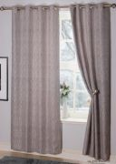 Valletta Interlined Eyelet Readymade Curtains Silver - 90