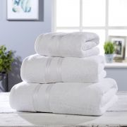 Vantona 100% Cotton 550gsm Bath Towel - White