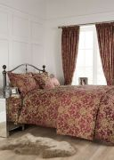 Vantona Como Jacquard Duvet Cover Set Berry - Superking