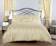 Vantona Verona Jacquard Gold Duvet Cover Set - King