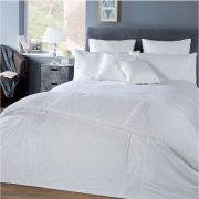 Vantona White Collection Florence Duvet Cover Set - Superking