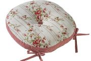Walton & Co. Rose Cottage Round Seat Pad